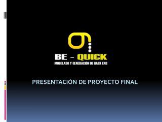 Presentación de Proyecto final