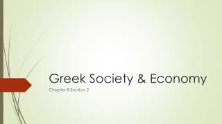 Greek Society & Economy