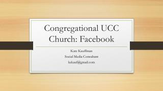 Congregational  UCC Church: Facebook