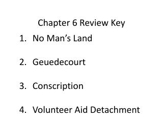 Chapter 6 Review Key