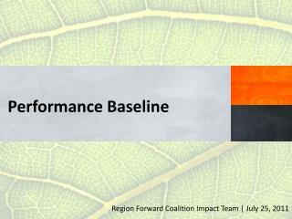 Performance  Baseline
