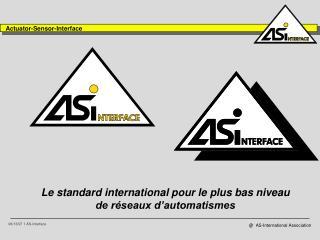 Le standard international pour le plus bas niveau de r seaux d automatismes