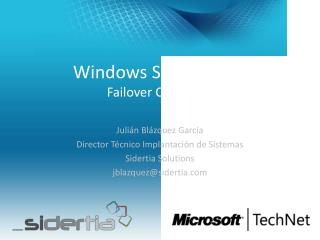 Windows Server 2012 Failover Clustering