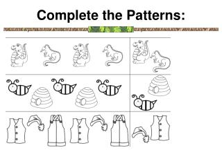 Complete the Patterns: