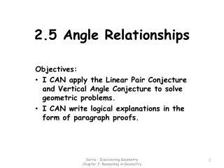 2.5 Angle Relationships