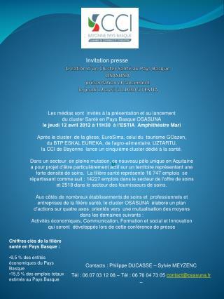 Contacts : Philippe DUCASSE – Sylvie MEYZENC