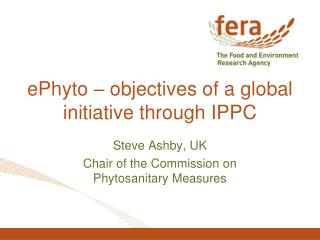 ePhyto – objectives of a global initiative through IPPC
