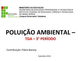 Contribuição: Flávio Barony Setembro 2013