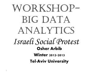 WORKSHOP- BIG DATA ANALYTICS Israeli Social Protest