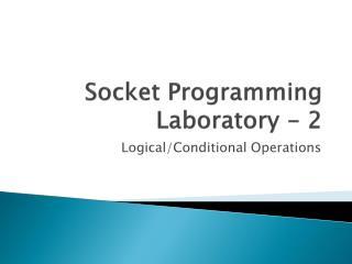 Socket Programming Laboratory - 2