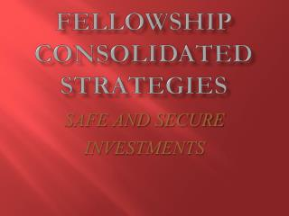 FELLOWSHIP CONSOLIDATED  STRATEGIES