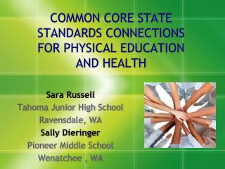 COMMON CORE STATE STANDARDS CONNECTIONS FOR PHYSICAL EDUCATION AND HEALTH