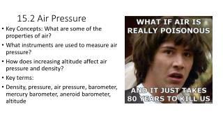 15.2 Air Pressure