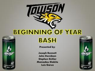 BEGINNING OF YEAR BASH