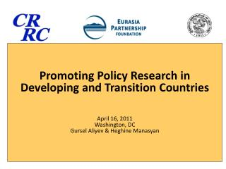 1. Why do you think policy research is important?