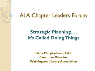 ALA Chapter Leaders Forum