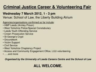 Criminal Justice Career & Volunteering Fair