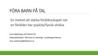 FÖRA BARN PÅ TAL
