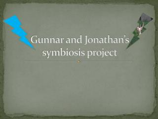 Gunnar and Jonathan's symbiosis project