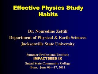 Effective Physics Study Habits
