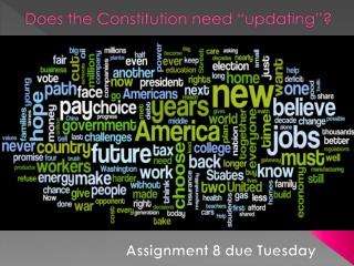 "Does the Constitution need ""updating""?"