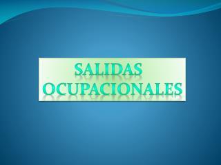 SALIDAS   OCUPACIONALES
