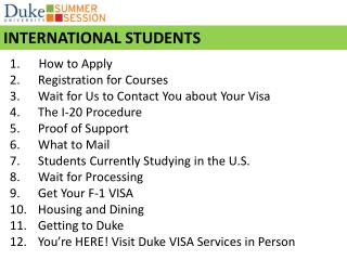 How to Apply  Registration for Courses Wait for Us to Contact You about Your Visa
