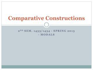 Comparative Constructions