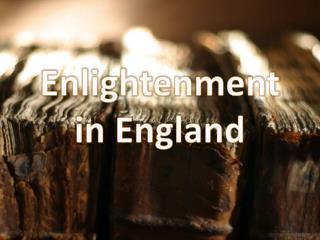 Enlightenment in England