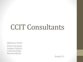 CCIT Consultants�� �