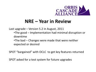 NRE – Year in Review