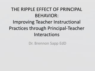 Dr.  Brennon  Sapp  EdD