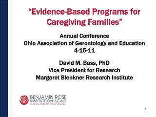 """Evidence-Based Programs for Caregiving Families"" Annual Conference"