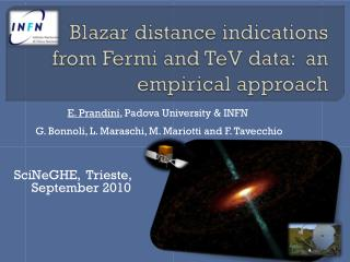 Blazar  distance indications from Fermi and  TeV  data:  an empirical approach