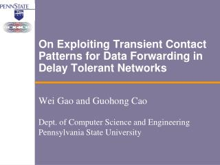 On Exploiting Transient Contact Patterns for Data Forwarding in Delay Tolerant Networks