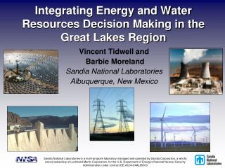 Integrating Energy and Water Resources Decision Making in the Great Lakes Region
