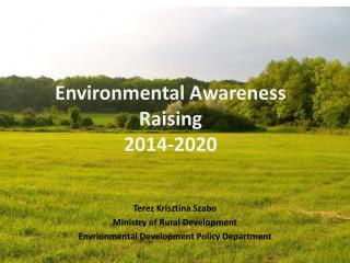 Environmental Awareness Raising  2014-2020