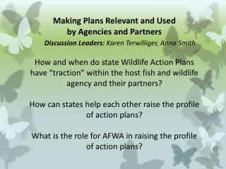 Perspective: Action Plan Relevance to our Agency and Key Partners