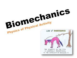 Biomechanics Physics of Physical Activity