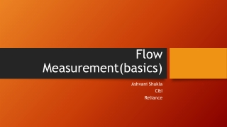 Flow Measurement Orifice meter
