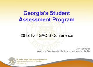 Georgia's Student Assessment Program