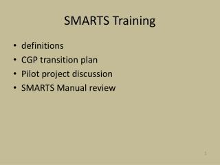 SMARTS Training