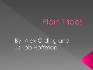 Plain Tribes