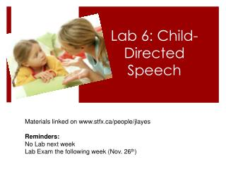 Lab 6: Child-Directed Speech