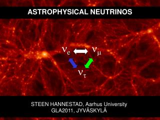 ASTROPHYSICAL NEUTRINOS