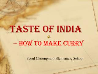 ~  How to make curry