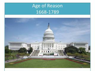Age of Reason 1668-1789