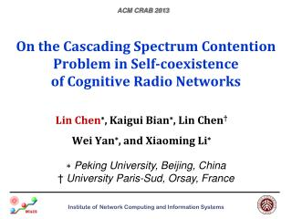 On the Cascading Spectrum Contention Problem  in  Self-coexistence  of  Cognitive Radio Networks