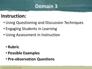 Instruction: Using Questioning and Discussion Techniques Engaging Students in Learning