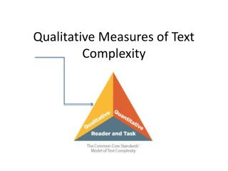 Qualitative Measures of Text Complexity